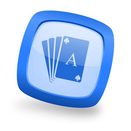 picto: card blue glossy web design icon