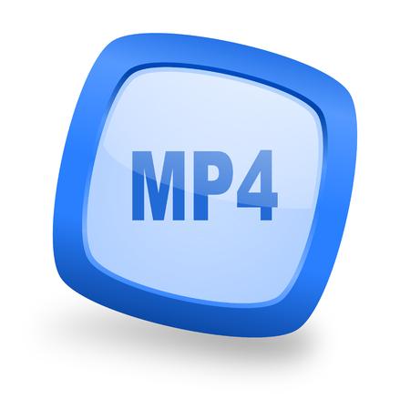 mp4: mp4 blue glossy web design icon