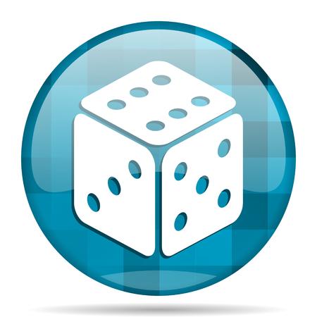 picto: game blue round modern design internet icon on white background