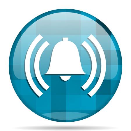 alarm blue round modern design internet icon on white background Stock Photo