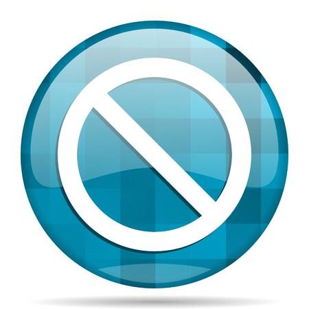 access denied: access denied blue round modern design internet icon on white background