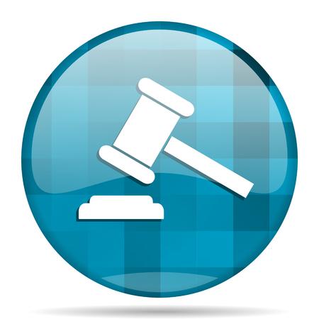 auction blue round modern design internet icon on white background