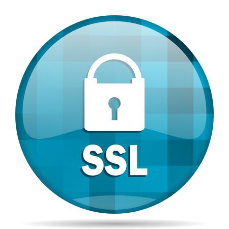ssl blue round modern design internet icon on white background