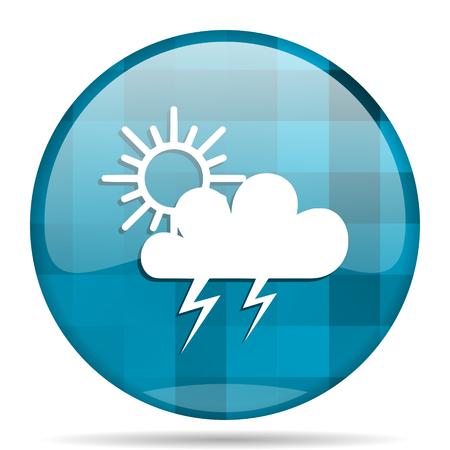 storm blue round modern design internet icon on white background