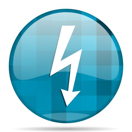bolt blue round modern design internet icon on white background