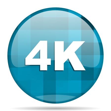 4k blue round modern design internet icon on white background