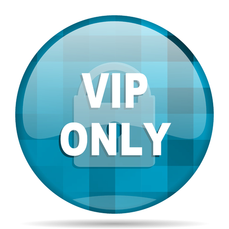 members only: vip only blue round modern design internet icon on white background