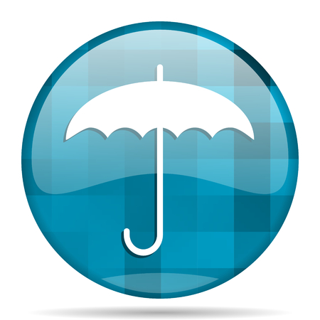 umbrella blue round modern design internet icon on white background