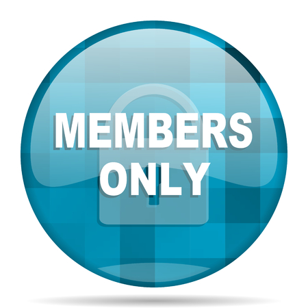 members only: members only blue round modern design internet icon on white background Stock Photo
