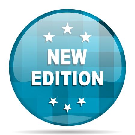 new edition blue round modern design internet icon on white background