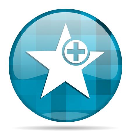 star blue round modern design internet icon on white background