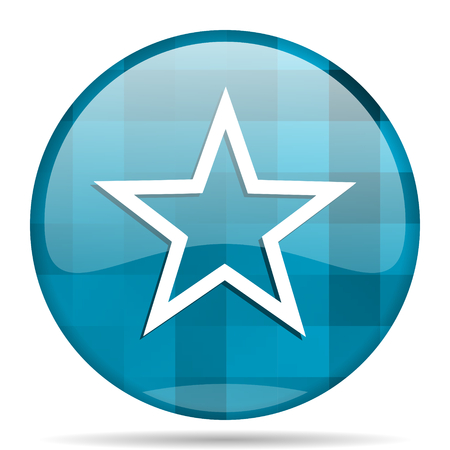 star blue round modern design internet icon on white background