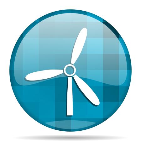 alternate: windmill blue round modern design internet icon on white background