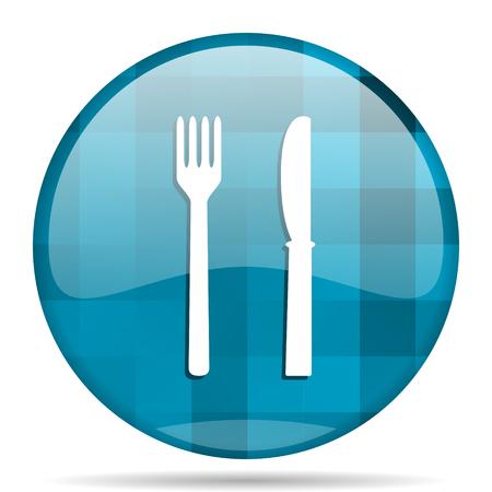 eat blue round modern design internet icon on white background