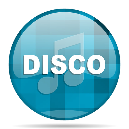 disco music blue round modern design internet icon on white background Stock Photo