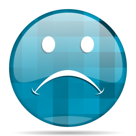 cry blue round modern design internet icon on white background Stock Photo