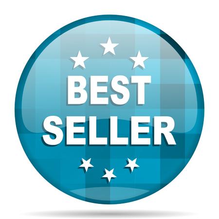 best seller blue round modern design internet icon on white background
