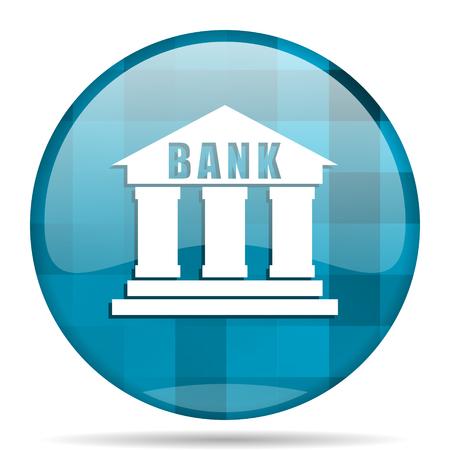 bank blue round modern design internet icon on white background Stock Photo
