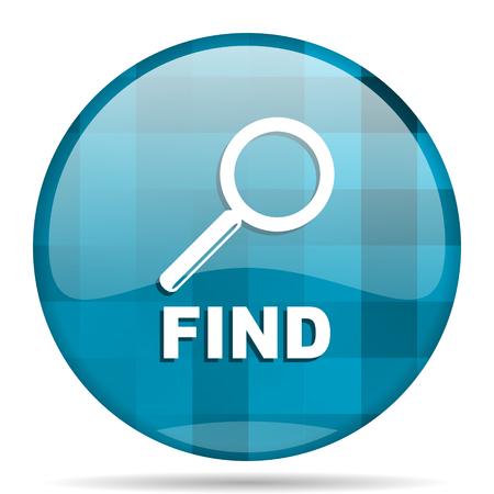 find blue round modern design internet icon on white background