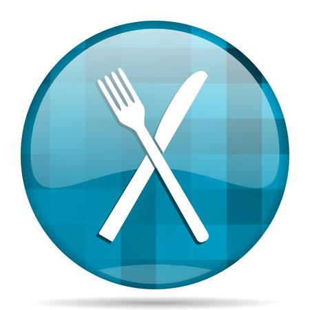 restaurant blue round modern design internet icon on white background