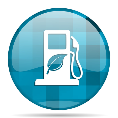 biofuel: biofuel blue round modern design internet icon on white background