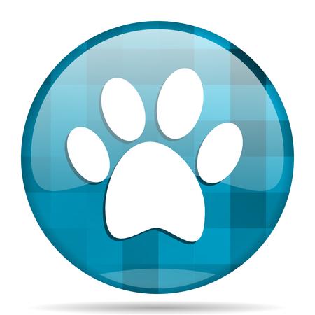 foot blue round modern design internet icon on white background