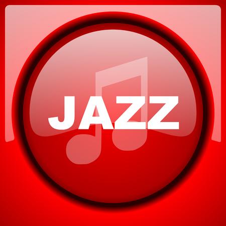 listen live stream: jazz music red icon plastic glossy button