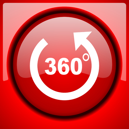 panorama: panorama red icon plastic glossy button