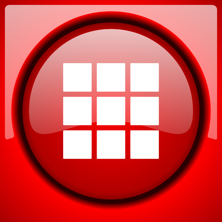 thumbnails: thumbnails grid red icon plastic glossy button