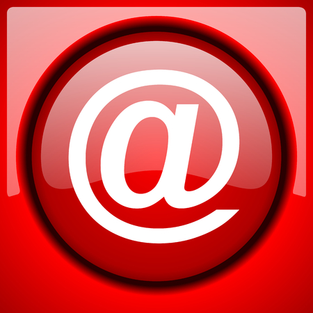 email red icon plastic glossy button