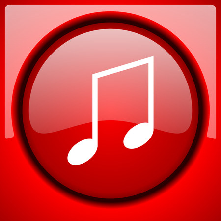 music red icon plastic glossy button Stock Photo