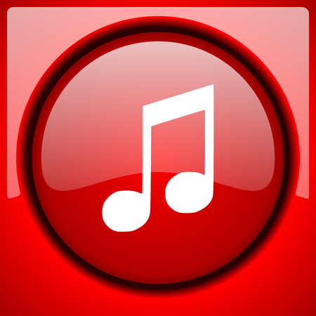 melodic: music red icon plastic glossy button Stock Photo
