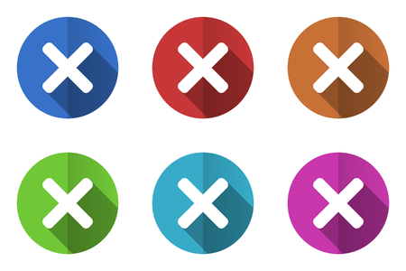 reject: Set of flat vector icons. reject icon