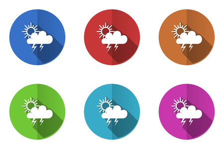 Set of flat vector icons. weather icon