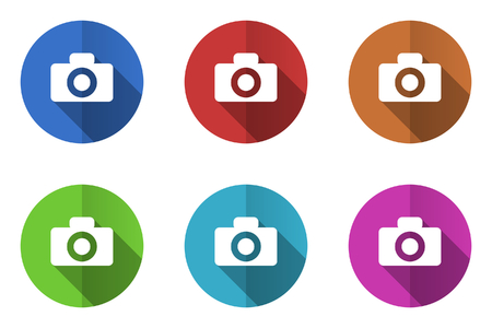 picto: Set of flat vector icons. camera icon