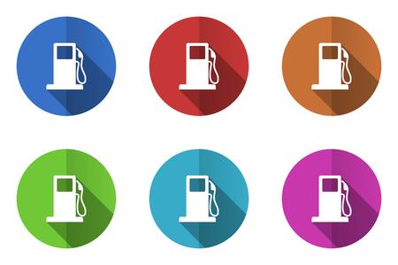 benzine: Set of flat vector icons. benzine icon Illustration
