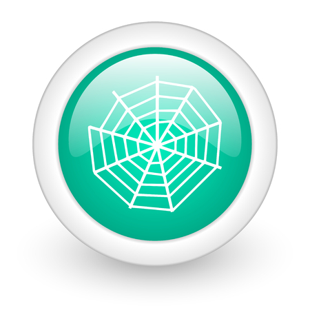 spider web: spider web round glossy web icon on white background