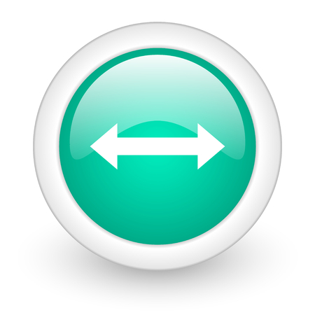 course of action: arrow round glossy web icon on white background