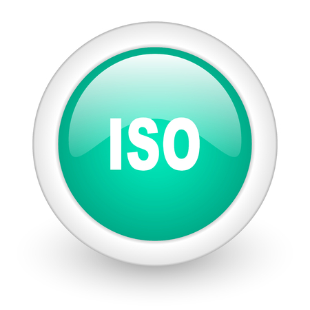 norm: iso round glossy web icon on white background