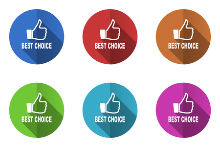 warrants: Flat design vector icon. Colorful internet buttons. Illustration