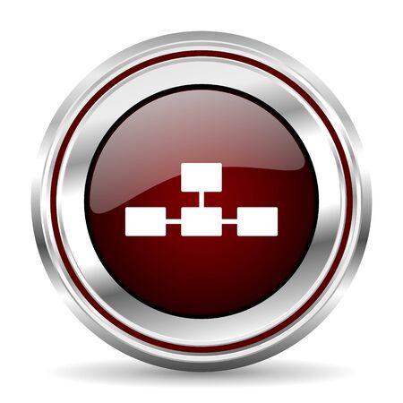 pushbutton: database icon chrome border round web button silver metallic pushbutton