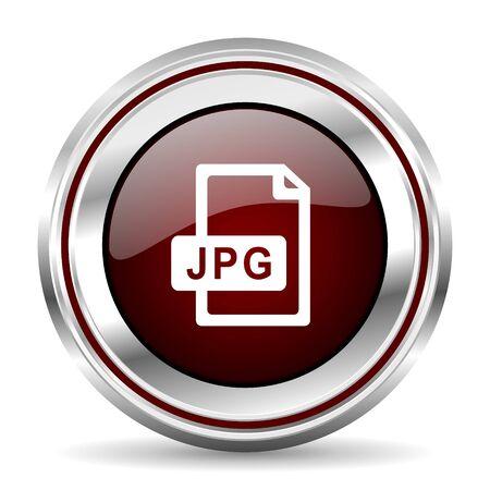 chrome border: jpg file icon chrome border round web button silver metallic pushbutton