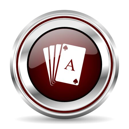 pushbutton: card icon chrome border round web button silver metallic pushbutton