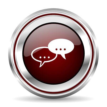 pushbutton: forum icon chrome border round web button silver metallic pushbutton