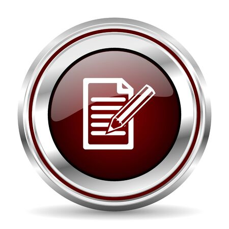 chrome border: subscribe icon chrome border round web button silver metallic pushbutton