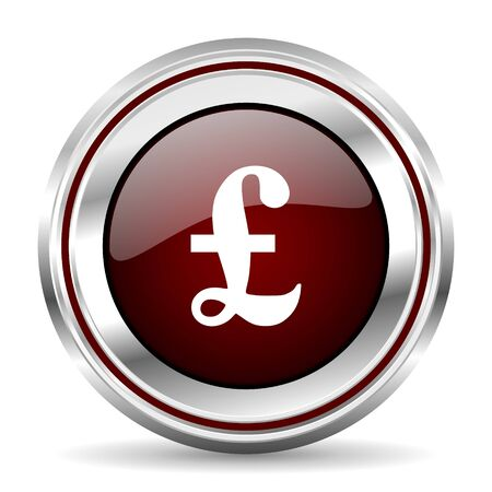 chrome border: pound icon chrome border round web button silver metallic pushbutton