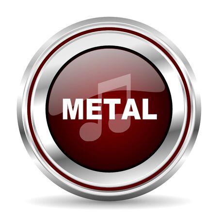 listen live stream: metal music icon chrome border round web button silver metallic pushbutton