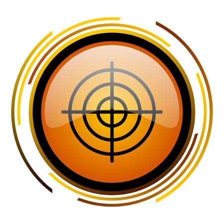 aim: target round design orange glossy web icon