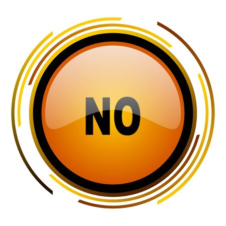 no round design orange glossy web icon