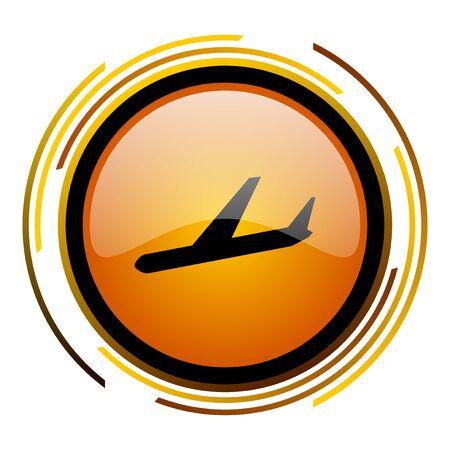 arrivals round design orange glossy web icon Stock Photo